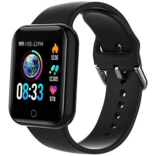 Smartwatch, KUNGIX Smart Watch mit Blutdruckmessung IP68 Wasserdicht Fitness Uhr Mit Pulsmesser Schrittzähler