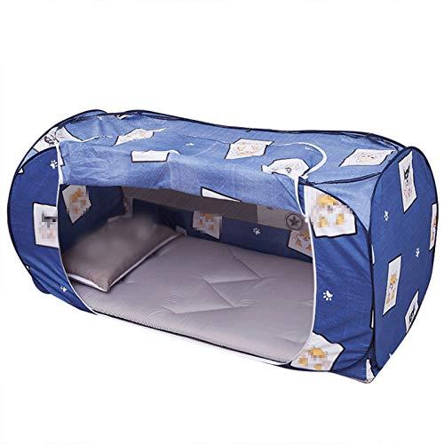 TWW Cortinas De Cama Mosquiteras Cortinas De Cama De Sombra De Una Pieza De Doble Uso Sin Instalación De Tiendas De Campaña Adecuadas para Dormitorios,0.9 Meters Below