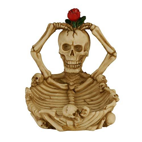 Qchomee - Cenicero gótico de resina con diseño de calavera esqueleto sexy para decoración de fiesta de Navidad, San Valentín, decoración de mesa de Halloween para salón, dormitorio, bar, casa