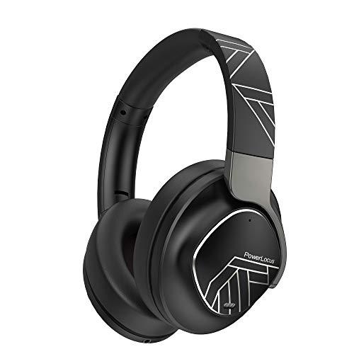 PowerLocus Auriculares Bluetooth Diadema, Cascos Bluetooth Inalámbricos, 70h de música,Auriculares Inalámbricos con Micrófono, Cascos Plegable, Alta Fidelidad y Graves Profundos para Movil,PC,Tableta