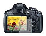 Protector de pantalla para Canon EOS 1500D 1300D Kiss X90 2000D, KOMET 9H Vidrio Templado Anti-Burbuja Anti-Rasguño Anti-Huella Ultra-Clear [3-Pack]
