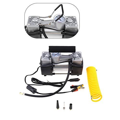 BIYM - Kit de compresor de Aire inflador de neumático eléctrico con Doble Cilindro Resistente CC 12 V 150 PSI 70 l/min