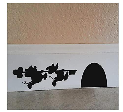 MDGCYDR Pegatinas Coche Personalizadas Etiqueta De La Historieta - Etiqueta De La Pared del Vinilo De La Casa del Ratón De Mickey Y Minnie