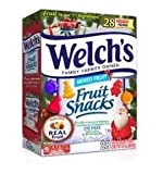 Welch's Fruit Snacks 1 Box (28 Pouches) - Holiday Edition - Festive Shapes - Real Fruit Juice