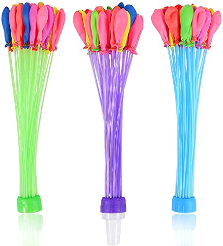 Globos de Agua, Globos Látex Water Balloons Refill Kits Aire Libre Deportes para Golpear el Agua en el Jardín Trasero en la Fiesta al Aire Libre Jardin Juguete de Diversion para PlayaNiños Adultos