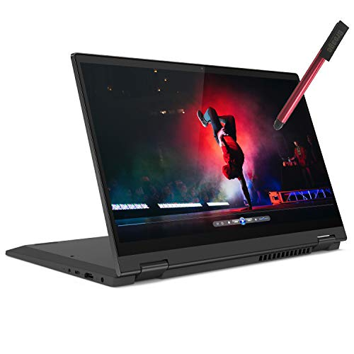 "Lenovo Flex 5 2-in-1 14"" FHD Touchscreen Laptop Computer, Quad-Core AMD Ryzen 3 4300U (Beat i5-8257U), 4GB DDR4 RAM, 512GB PCIe SSD, 802.11AC WiFi, Remote Work, Windows 10 S, BROAGE 64GB Flash Stylus"
