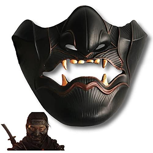 SGTHYJ Nueva Novedad Fantasma de Tsushima Máscara Jin Sakai Samurai Japonés Guerrero Cosplay Disfraz de Halloween Masquerade Party Props