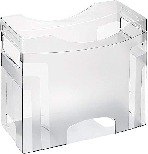 Rotho Cube Hängemappenbox für Aufbewahrung und Transport von bis zu 25 Hängetaschen, Kunststoff (PS) BPA-frei, transparent, (34,5 x 14,5 x 26,5 cm)
