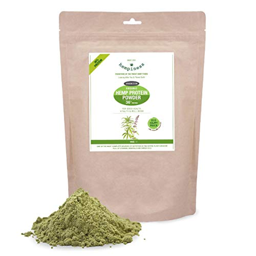 Hempiness Organic Premium Raw Hemp Protein Powder 1kg