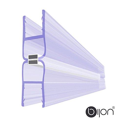 180 Grad SET (2 x 0Grad) Magnetprofil Duschtürdichtung | Weiße Magneten | Für 5-6mm Glastärke