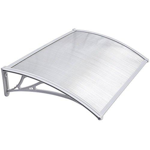 Zonnescherm voor deuren, wit, breedte 1,2 m