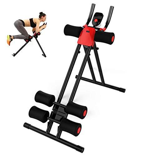 HT&PJ Máquina Profesional De Abdominales Multifuncional Máquina De Fitness Abdominales Ejercita Nuestro Abdomen para Hacernos Más Atractivos (Negro)
