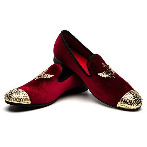 JITAI Rosso Mocassini Eleganti da Uomo Moda Scarpe Casual Scarpe Eleganti da Uomo