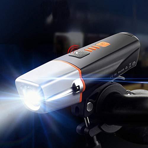 XWYWP Fahrradlicht 15000 Lumen Induktion Fahrrad Licht Set USB wiederaufladbare Bike Frontlicht 5000mAh Batterie T6 LED Bike Licht tragbare Laterne norearlight