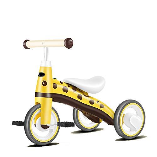 Triciclos para niños para niños de 10 meses-3 años de edad, triciclos de 3 ruedas para niños y niñas, triciclos para triciclos de niño pequeño, bicicleta triciclo, mejora (color amarilla)