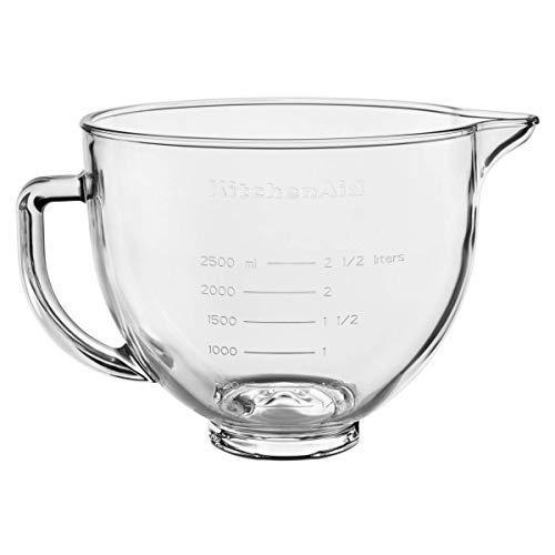 KitchenAid glazen kom helder met greep/siliconendeksel, 4,8 l