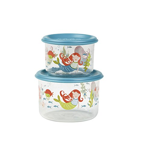 SugarBooger Good Lunch Small Snack 2 Piece Container, Mermaid