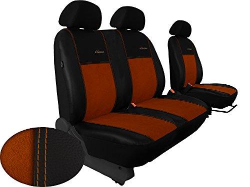 Autositzbezüge BUS 1+2 ALKANTRA EXCLUSIVE passend für VW T4 in diesem Angebot BRAUN (In 5 Farben bei anderen Angeboten erhältlich) . Sitzbezug Fahrersitz + 2er Beifahrersitzbank + 3 Kopfstützen