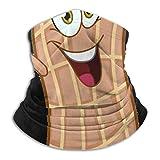 Happy Cartoon Peanut Headwear Neck Gaiter Warmer Winter Ski Tube Scarf Fleece Face Cover Windproof For Men Women Personalized