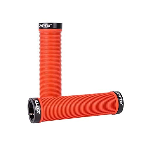QSCTYG Puños para Bicicleta 1 par MTB Los apretones de Manillar de Gel de Silicona Lock On Anti Slip Grips Acoples for MTB montaña Bicicleta Plegable de Piezas de Bicicletas 83 (Color : Red)