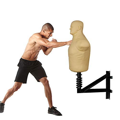 INNOLIFE Wall Mounted Boxing Punching Dummy, Sparring Body Opponent Bag Martial Arts Equipment … (Boxing Dummy) (Boxing Dummy)