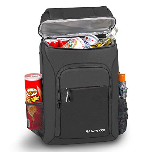 Cooler Backpack, Ranphykx Waterproof Backpack Cooler 45 Cans Large Capacity Leak-Proof Cooler Bag Lightweight Insulated Cooler for Picnics BBQs Beach Camping Fishing & Outdoor Activities