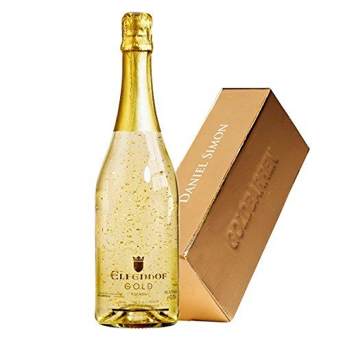 Der prickelnde Luxus - Das flüssige Geschenk in Goldbarren-Optik - perfektes Geschenk zum Valentinstag mit Ihrer individuellen Namens-Gravur