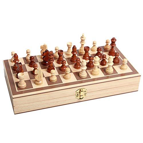 Jeu d échecs En Bois Portable Pliant échiquier Jeu De Puzzle Professionnel Jouets éducatifs Pour Enfants Débutants Adultes