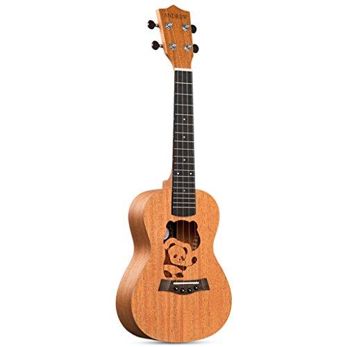 LINGZHIGAN Original handgefertigte Mahagoni 30 Zoll Ukulele kleine Gitarre Anfänger