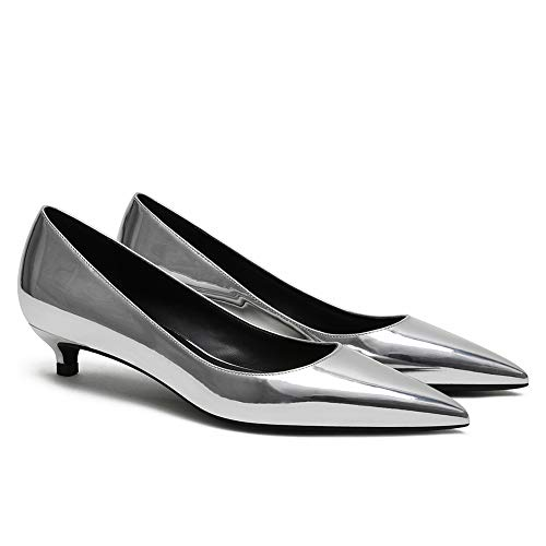Roimaash 3CM Heel Elegante Mujer Pumps Kitten Tacón Sin Cordones Business Zapatos...