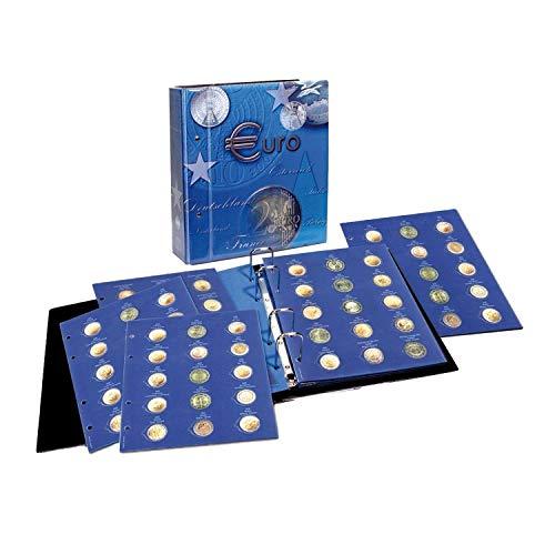 7302-B1 TOPset Classeur monnaie 2 euro en capsules (26mm) de tout les pays européens 2004-2012 + 10 Feuilles Album de pièces de monnaie en euro - classeur pieces de monnaie pour votre collection