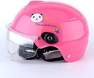 FidgetGear Children Boy Girl Advanced Breathable Windproof Motorbike Helmet for Summer Pink