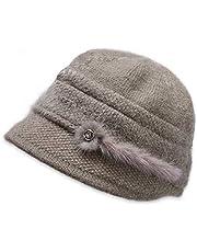 HOMEFIT帽子 ニット帽 おばあちゃん レディース ハット 婦人帽 防寒 上品 軽い 暖かい カジュアル ギフト プレゼント 孫 シニア 誕生日 祖母 母 ハット 40代 50代 60代 70代 80代 90代 敬老の日
