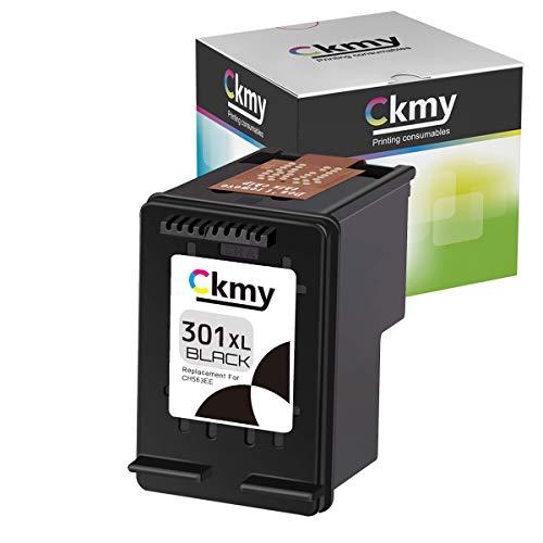 CKMY 301 301XL - Cartucho de tinta de repuesto para HP DeskJet 2540 1050a 1000 1514 3050 2542 3055a 2543 Envy 5530 4500 (1 negro)
