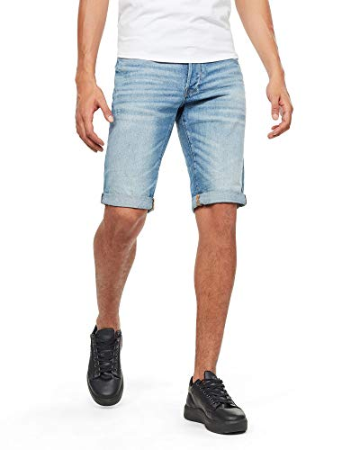 G-STAR RAW Herren 3301 Shorts, Blau (Lt Aged 8973-424), 34W