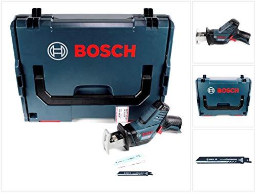 Bosch GSA 12V-14 Akku Säbelsäge 12 V + S 922 EHM endurance Säbelsägeblatt für Stainless Steel rostfrei 19x1mm + L-Boxx - ohne Akku und Ladegerät