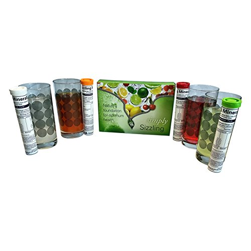Sizzling Plant Derived Mineral Orange+Cherry Berry+Lemon-Lime+Natural Flavour 4 Tubes Family Pack
