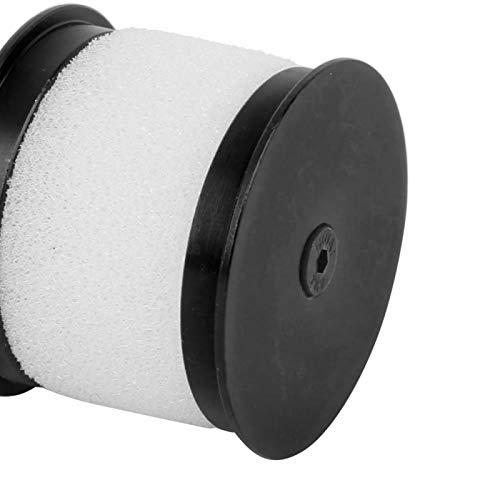 Limpiador de aire RC de aleación de aluminio Filtro de aire RC para coche RC 1:10 con filtro de polvo(black)