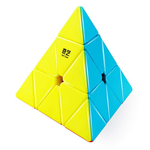 D-FantiX Qiyi Qiming Pyramid Stickerless Speed Cube Triangle Cube Puzzle