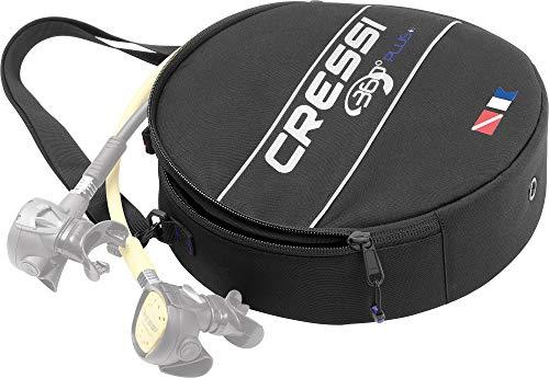 Cressi 360 360-Bolsa reguladora, Color Negro, Unisex