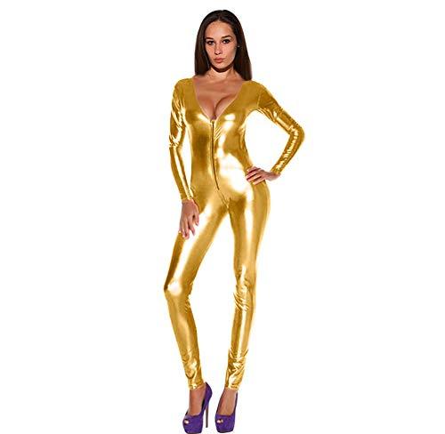 Damen Lederoverall Aus PVC Nachtclub Lackleder Body Ktv Bar Dance Performance Bekleidung Ds Kostüm Weihnachtsgeschenk