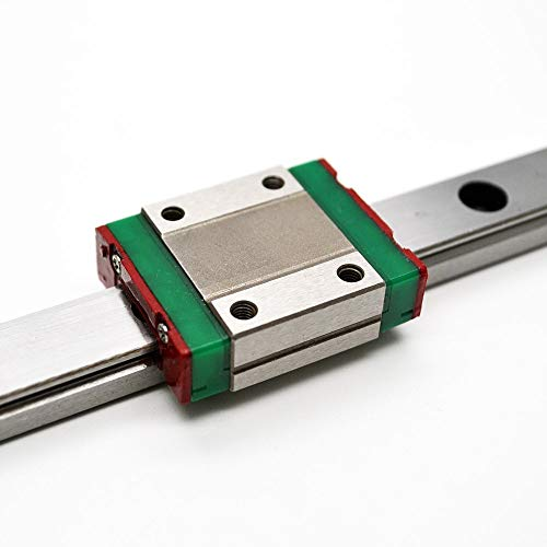 Nologo WJW-DAOGUI, 1set 3pcs 12mm Linear Guide MGN12 L600mm Linear Rail With MGN12H Linear Carriages Block For CNC DIY And 3D Printer XYZ Cnc