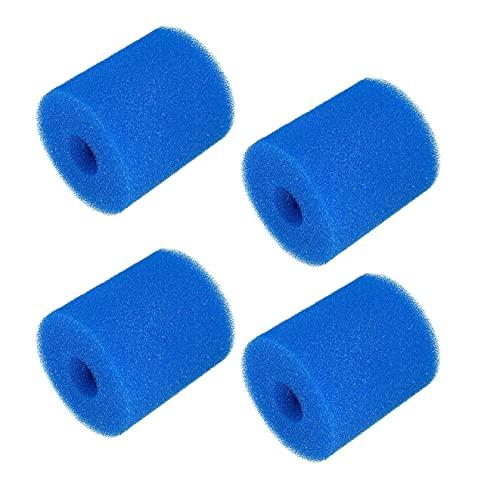 timeriver US Cartucho de esponja de filtro tipo H de espuma de filtro de piscina, reutilizable, lavable, limpiador de esponja de filtro para piscina, compatible con Intex tipo H (4 unidades)
