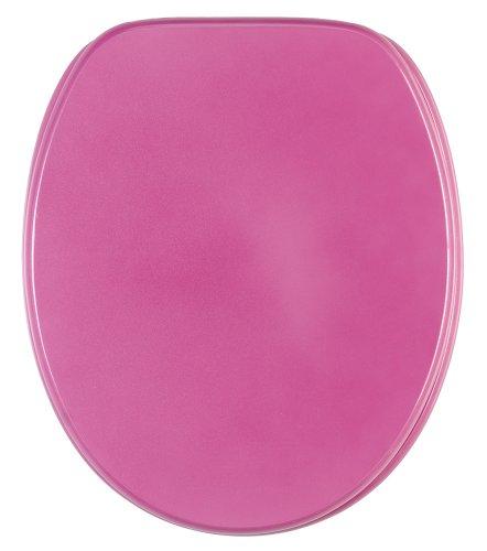 WC Sitz mit Absenkautomatik, hochwertige Oberfläche, einfache Montage, stabile Scharniere, Glitzer Pink