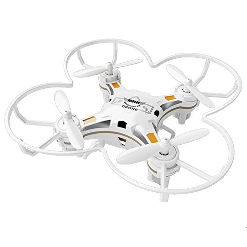 DishyKooker FQ777 124 RC Drone Micro Pocket Drone 4CH 6 Achsen Gyro Umschaltbarer Controller Mini Quadcopter RC Hubschrauber Kid Spielzeug White (dual Mode)