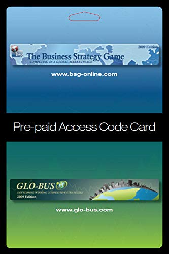 Business Strategy Game (BSG) Glo-Bus Pre-paid Access Code Card
