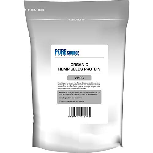 Natural Organic Vegan Hemp Protein Powder 250g by PSN - Plant-Based Protein European Origin Gluten & Dairy Free, Rich in Omega 3 & 6 to Promote Energy Superfood