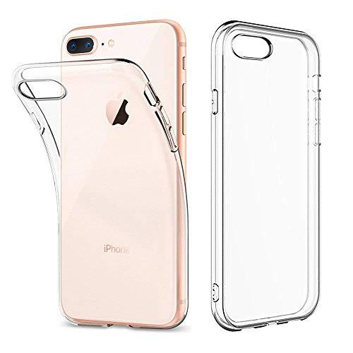 Amonke iPhone 8 Plus Hülle, iPhone 7 Plus Hülle - Silikon Transparent Weiche Durchsichtig Dünn Handyhülle mit TPU Stoßfest Fallschutz Bumper Slim Case Cover Schutzhülle für Apple iPhone 7 8 Plus 5.5''