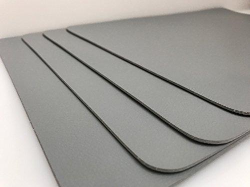 ASA Tischset Tischuntersetzer Cement grau 46 x 33 cm Kunstleder 4 tlg