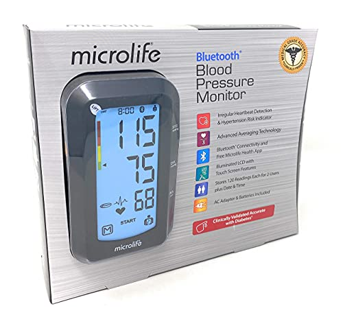 Microlife Bluetooth Upper Arm Blood Pressure Monitor with Irregular Heartbeat Detection,Bluetooth Connectivity and Free Microlife Health App